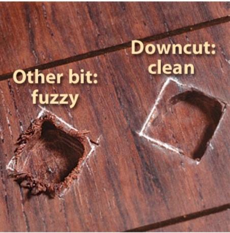 carbide bits downcut