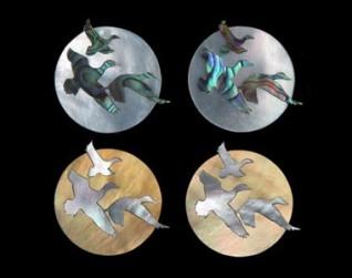 Flying Ducks with moon 380-300